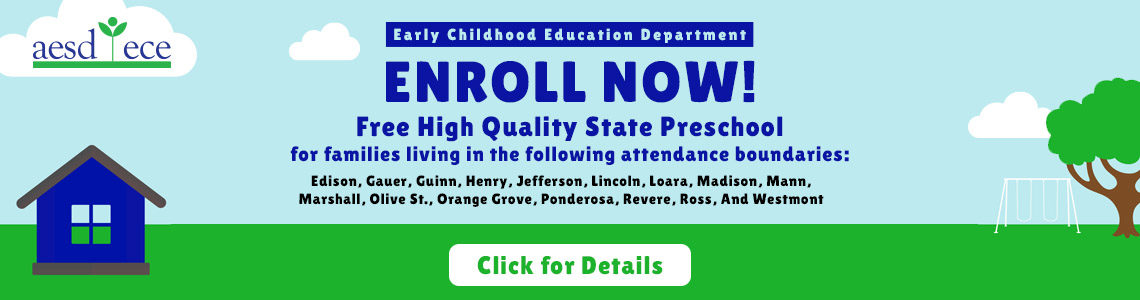 Enroll Now in Free High Quality State Preschool. Click for details