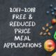 2017-2018 Free & Reduced Price Meal Applications