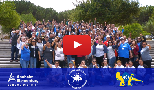 Click to Watch the Parent Leadership Institutes trip to University California Irvine
